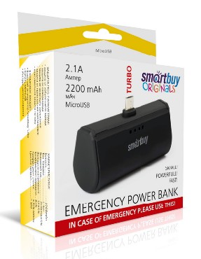 SMARTBUY SBPB-250 TURBO С 2.1A 2200MAH TYPE-C черный